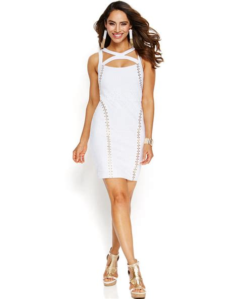 Midi Maxi Thalia thalia sodi studded crochet bodycon dress shopstyle cocktail