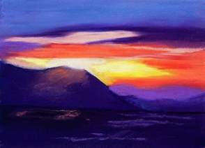 Draw House Plans Online abstract sunset pastel by diana tripp