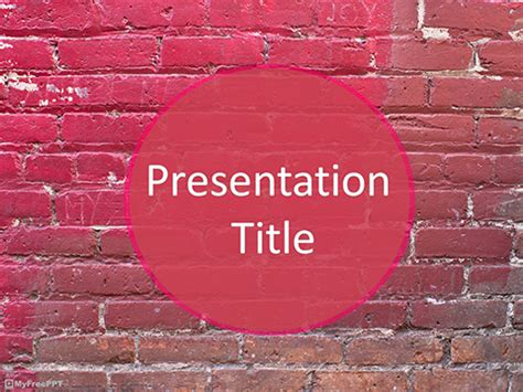 Free Brick Wall Powerpoint Template Download Free Powerpoint Ppt Wall Powerpoint Template