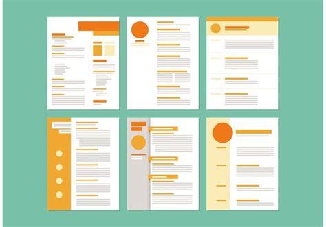 Curriculum Vitae Layout Template by Modelos De Layout Curriculum Vitae Vetores E