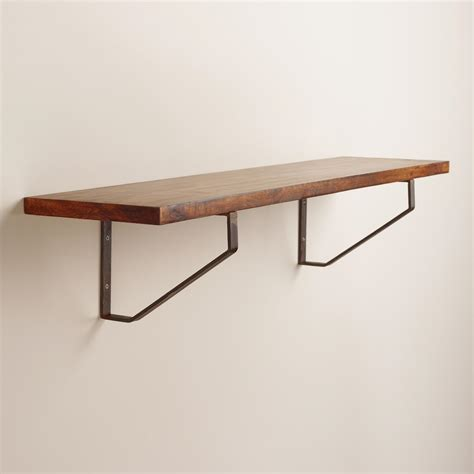 large wood and metal shelf world market