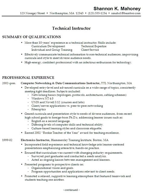 Work Experience On Resume by Resume Work Experience Sles