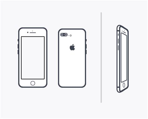 iphone layout vector free minimal iphone 7 vector template titanui