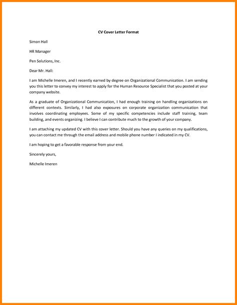 6 short cover letter exles resume type