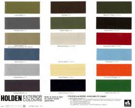 Duplicolor Upholstery Paint 1972 Holden Paint Charts And Color Codes