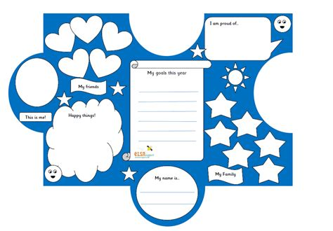 All About Me Jigsaw Transition Activity Elsa Support Jigsaw Activity Template