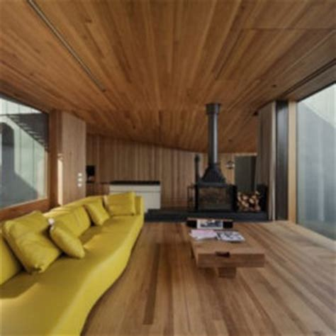 Bold Wood Interiors by Bold Exterior House With Minimalist Interiors