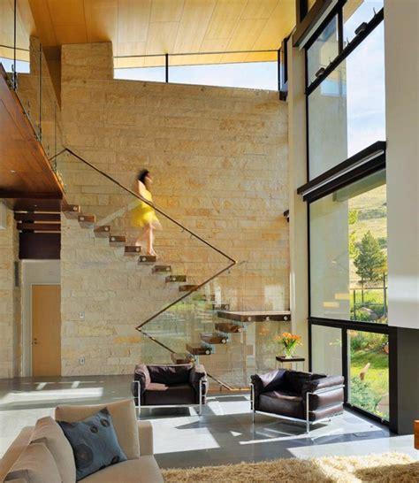 Escalier Maison Contemporaine by Designs D Escaliers Avec Garde Corps En Verre Archzine Fr