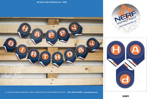 printable nerf images nerf banner printable party decorations personalized