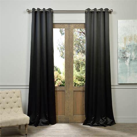 black grommet drapes grommet jet black blackout curtains drapes