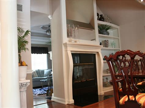i have always loved a double sided fireplace that is shared with the house tour