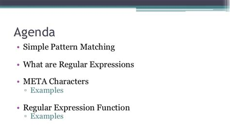 pattern matching with regular expressions in c lg 27 regular expressions 101 introduction to regular expressions