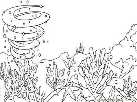 ocean floor coloring sheet coloring pages