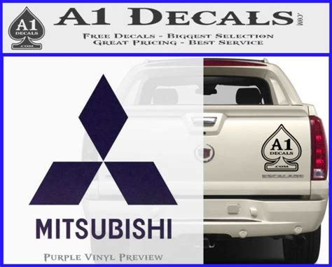 mitsubishi car logo mitsubishi logo decal sticker 187 a1 decals