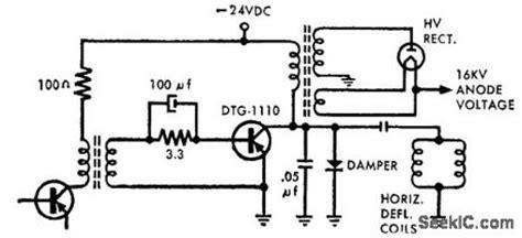 ic transistor horizontal horizontal deflection electrical equipment circuit circuit diagram seekic