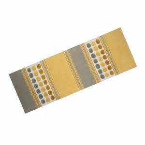 Yellow And Grey Runner Rug Large Modern Cotton Rug Grey Yellow Chenille Striped Tufted Runner Ebay