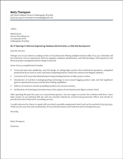 cover letter to resume software engineer cover letter resumepower