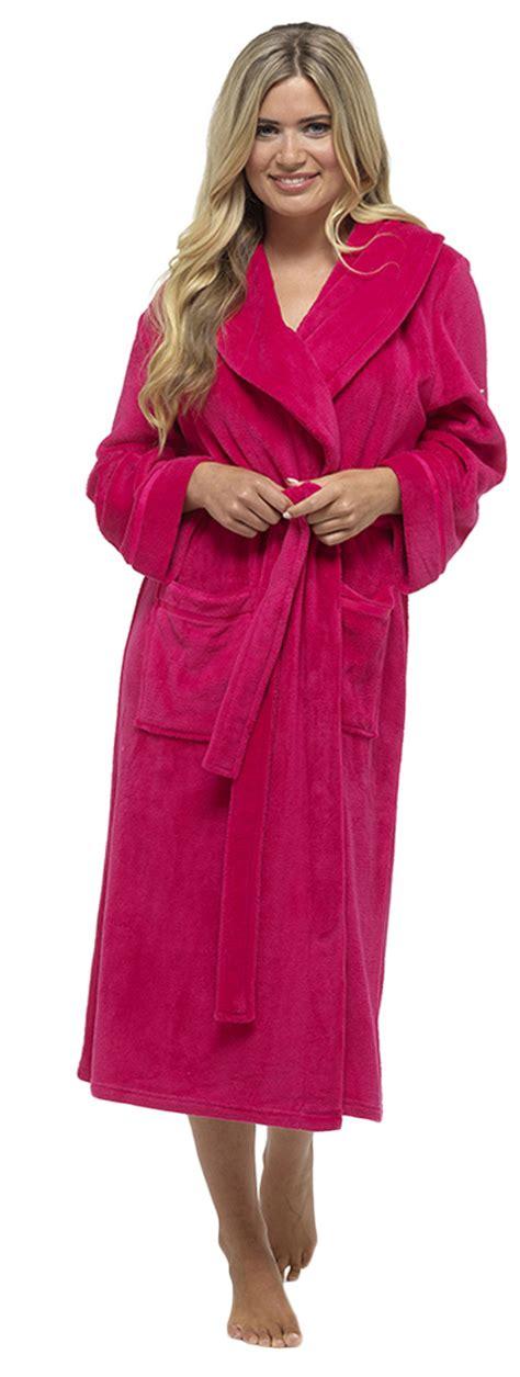 full length bathrobe luxury womens full length fleece dressing gown long warm