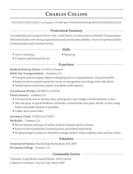 Greenhouse Worker Sle Resume by Best Greenhouse Worker Resumes Resumehelp