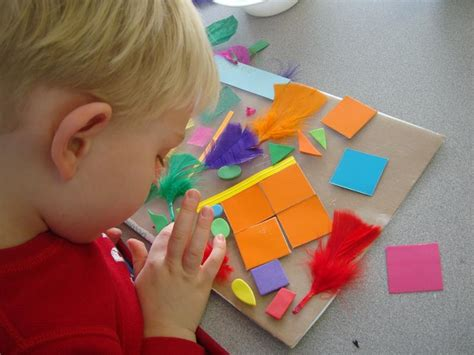 for preschoolers to make sticky collages in preschool