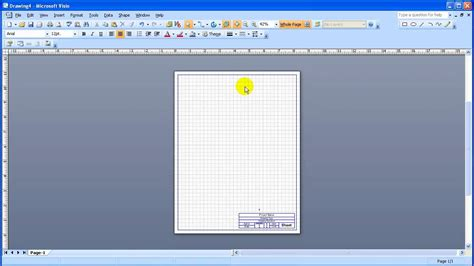 visio custom title block tutorial