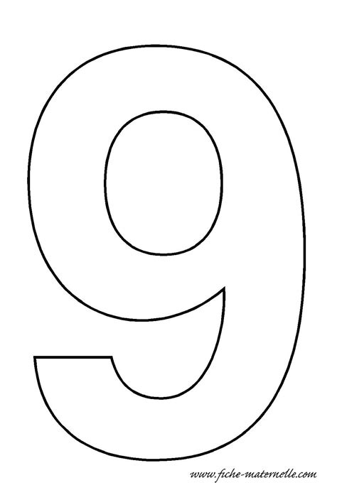Number Drawing 0 To 9 by Fiches Maternelles Chiffres 224 D 233 Corer En Maternelle