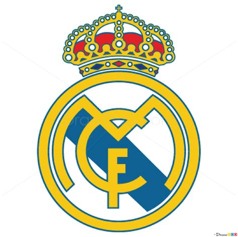 Tutorial Logo Real Madrid | how to draw real madrid football logos how to draw