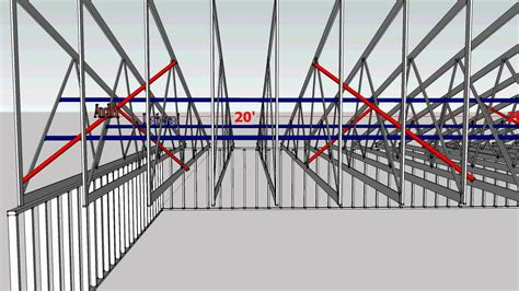 Pole Barn by Truss Bracing Recommendations In 3d From The Wwta Youtube