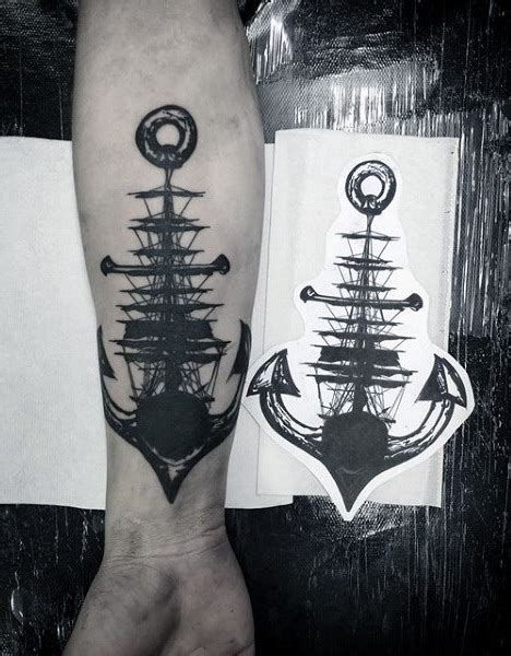 100 nautical tattoos for men slick seafaring design ideas