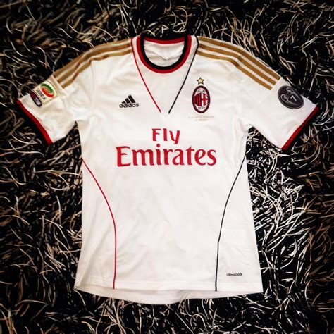 Kaos Bola Emirates ac milan away football shirt 2013 2014 sponsored by