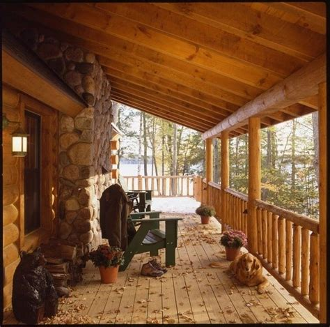 cabin porch log cabin cooking cozy log cabin porch someday a cabin pinterest