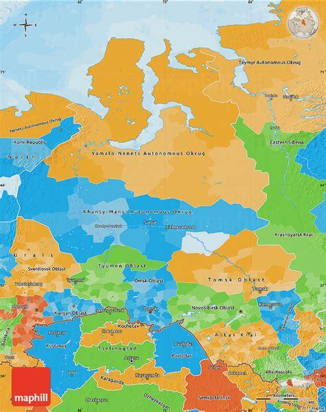 russia maps siberia maps political map of western siberia