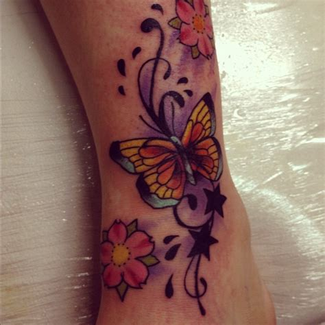 ankle tattoo cover up designs coverup butterfly on foot by jerrrroen on deviantart