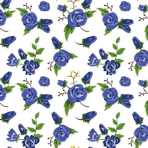 Muster Hintergrund Blumen Blau by Blaue Blumen Muster Hintergrund Der Kostenlosen