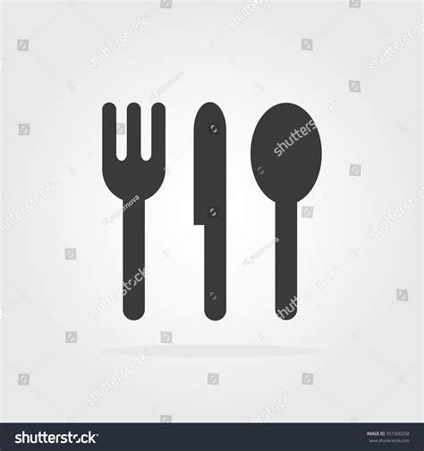 Food Icon Cooking Logo Vector Logo Stock Vector 351500258 Shutterstock Food Signs Template