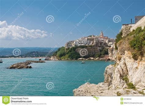 Seaside House Plans vieste puglia italy stock images image 22196944