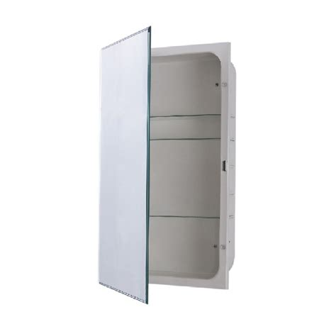 surface mount medicine cabinet with mirror pegasus 36 in w x 26 in h frameless recessed or surface