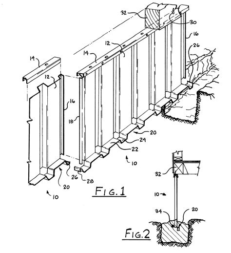 Sketches A Corrugated Bulkhead by Patent Us6205725 Interlocking Corrugated Panel Wall Cast