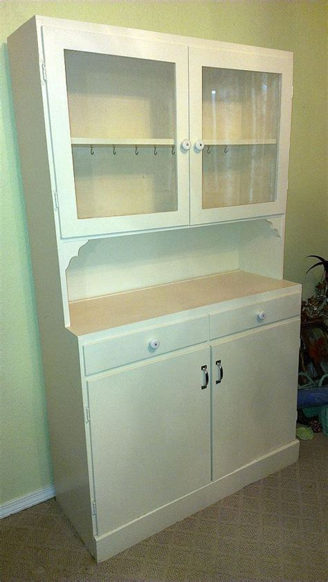 vintage 1920s antique kitchen china cabinet hutch by