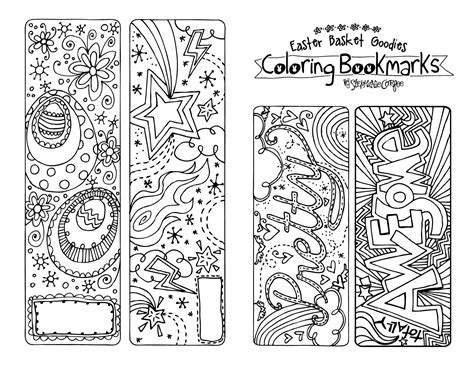 free printable bookmarks you can color a printable to color this easter stephanie corfee