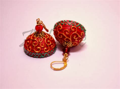 How To Make Paper Jewellery Jhumkas - quilling me softly carving effect on quilled jhumkas