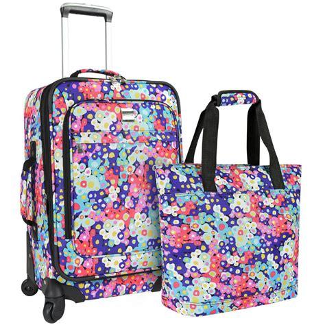 Bag A Bargain With This Flower Set by U S Traveler U S Traveler Langford 2 Womens Luggage