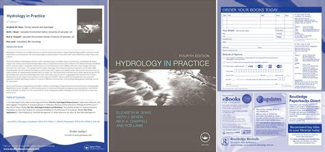 hydrology in practice fourth edition books dr nick a chappell homepage