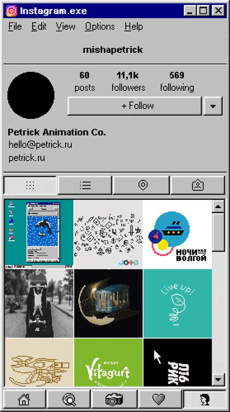 editorial design instagram what instagram would look like on windows 95 designtaxi com