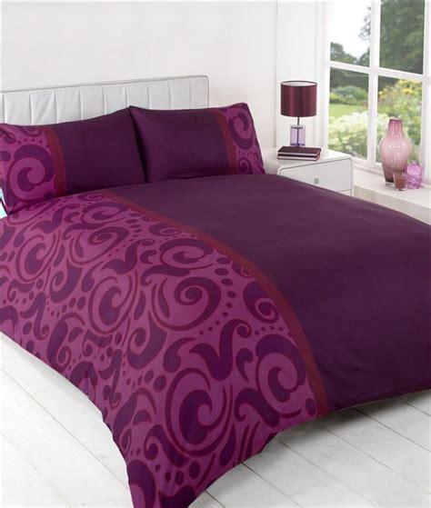Aubergine Bedding Sets New Aubergine Plum Pink Bedding Duvet Quilt Cover Bed Set Ebay