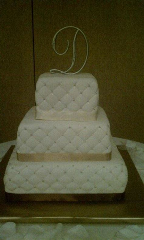 How To Quilt A Square Cake by Square Quilted Wedding Cake Cakecentral