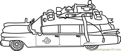 Ghostbusters Car Coloring Page   Free Ghostbusters