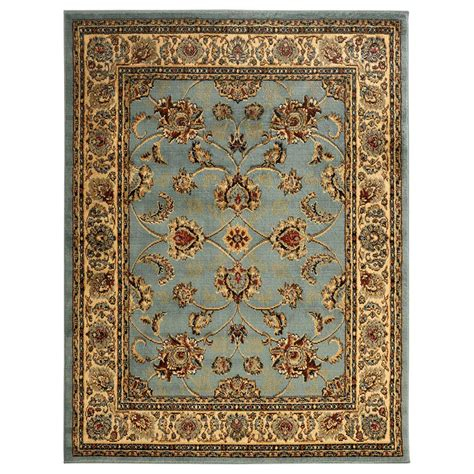 Sweet Home Stores King Collection Mahal Oriental Blue Teal 7 X 10 Area Rugs