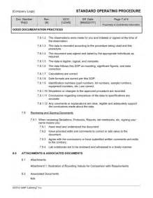 pharmacy standard operating procedures template documentation practices sop template ph23 gmp qsr