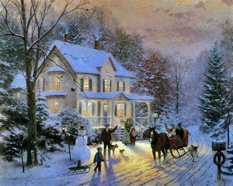 home interiors kinkade prints kinkade painting of neighbors in